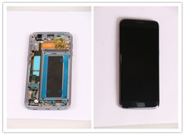 Wholesale LCD Touch Screen Digitizer the Biggest Phone Touch Screen For Samsung Galaxy S7 edge Big Touch Screen Mobile Phones Display with frame
