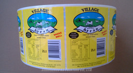 High gloss paper adhesive labels stickers Full color custom printing on rolls