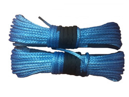 Wholesale pieces mm x m inch feet yellow synthetic winch rope cable line with thimble for utv atv