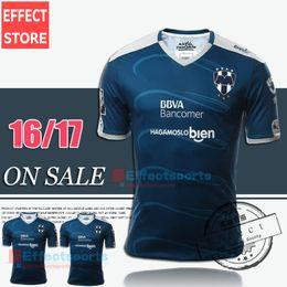 Wholesale 2016 Top Quality Mexico Club Monterrey Soccer Jersey camisetas de futbol W GARGANO R FUNES MORI D PABON Maillot Football Shirts