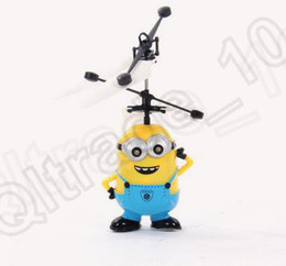Wholesale 9 design KKA174 Despicable ME KT panda Flying Minion Sensor Mini RC Helicopter Toys Kids Toy Gifts