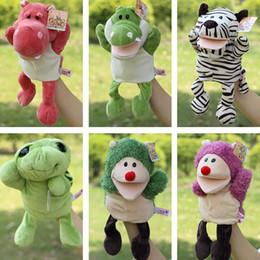 Wholesale New arrvial shaun sheep animal hand puppets Baby loves doll Parent child games toys turtle Civet cat selephant orangutans monkey