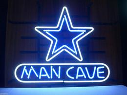 Promotion signes de cow-boy 17X14 DALLAS COWBOYS ÉTOILE Man Cave Handcraft Néon Sign Beer Bar Lumière RAPIDE SHIP