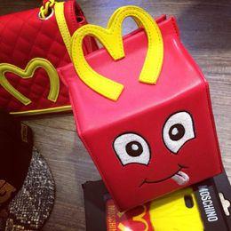 Wholesale Brand M mcdonald handbag french fries maschino lunch shoulder bag chain messenger versatile messenger purse moschin smile box YY025