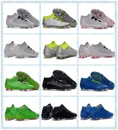 Wholesale 2016 Training Sneakers Men s ACE Primeknit FG AG Silver White Green Blue Black boots Shoes Sports Football Boots Running Shoes