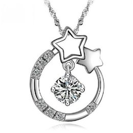 925 sterling silver jewelry wholesale pendant necklace Korean Wishing Star hearts from the stars you have your pendant