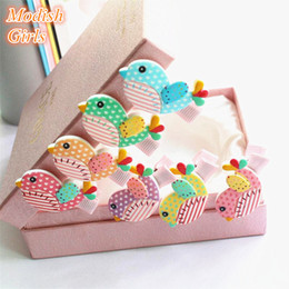 Wholesale 2015 Acrylic Cute Felt Animals Cartoon Girls Hair Clips Baby Felt Clips Passarinhos DE Feltro Animals Felt Clips Colors Birds Barrettes