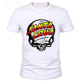 Wholesale New OEM Skateboard Skate Santa Cruz T Shirt Men Loose milk silk Man Shirts Camiseta Mens Tee Clothing fast shipping