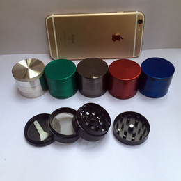 1pc 40MM CNC 4 Parts Smoking Herb Grinder Zinc Alloy Metal Tobacco 6 Colors Spice Pollen Mini Hand Muller Crusher Wholesale Cheap Grinder