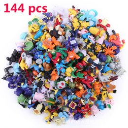 Wholesale 144 styles Poke Figures Poke mon Action Figures cm Children Mini Figures Toys Best Gifts For Kids