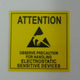 4.8 * 4.8cm ATTENTION Autocollant étiquette adhésive pour emballage ESD Anti statique Sensitive Device électronique Blindage Anti Static-Party à partir de etiquette électronique fournisseurs