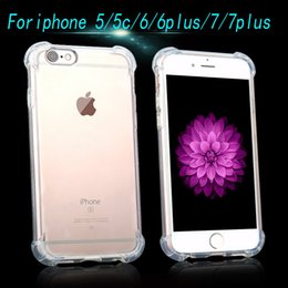 Wholesale High Quality Shockproof Air Cushion Crystal Clear TPU Soft Case Cover Skin For Iphone plus s plu s