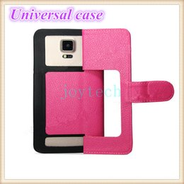 Universal cell phone case flip cover high quality soft litchi stria TPU leather & silicone wallet case with S M L XL XXL size for all phones
