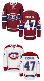 Wholesale Montreal Canadiens Alexander Radulov Hockey Jersey Home Red Away White Radulov Jersey Men Stitched Ice Hockey Jerseys