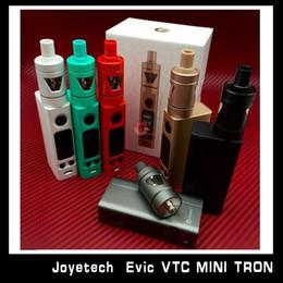 Evic vtc en venta-2016 Auténtico Joyetech EVIC-VTC Mini V2 con el tanque de Tron-s Venta al por mayor versión actualizada VS Aspire Odyssey mini Kit Kanger Topbox mini