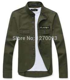 Wholesale Spring Military Jacket Men - Free Shipping New 2016 Spring Men Jacket Military Style Thin Army Coat Outdoor Bomber Jacket Plus Size M-XXL jaqueta masculina