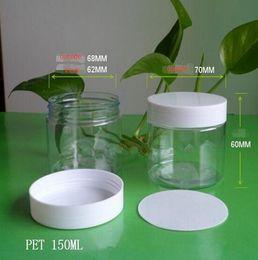 150g Transparent PET jar packaging bottles packing plastic honey bottle Chili sauce dried fruit snack bottle 50PCS
