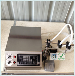 Wholesale CE RoHS Electric Digital Control Pump Liquid Filling Machine ml for liquid perfume water juice essential oil with heads GZL