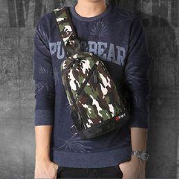 Korean Men Chest Pack Fashion Canvas Bag Outdoor Bag Shoulder Bag Fashion Casual Handbags
