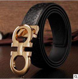 Wholesale 4 Designs Genuine Leather Belts Men Metal Smooth Buckle Men s Casual Belts Luxury Fashion Men Waistband Strap Belt CCA4872