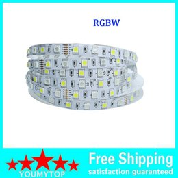 Nonwaterproof 12VDC RGBW 16.4ft 5M 5050 300leds led strips rgbw rgb+white rgb+warm white color changing led strip lights white pcb