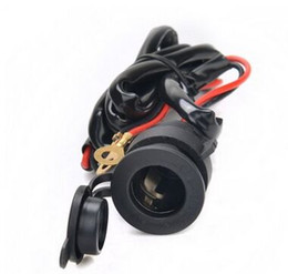 waterproof Motorcycle car charger cigarette lighter chargering for GPS cigarette socket 12v -24V 120W with 150M cable
