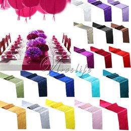 Wholesale 1Piece SatinTable Runner cm x cm For Wedding Party Event Banquet Home Dining Decoration Supply Table Cover Tablecloth Accessories