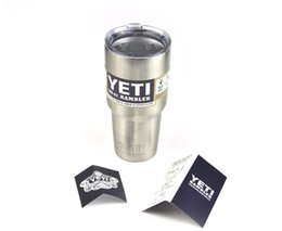 Wholesale YETI Tumbler Rambler Cups YETI Coolers Cup Yeti Sports Beer Cup oz YETI Mugs Large Capacity Stainless Steel Travel Mug