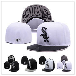 Wholesale Chicago White Sox Baseball Caps Fitted Hats Fashion Hip Pop Sox Street Hats Online Shopping