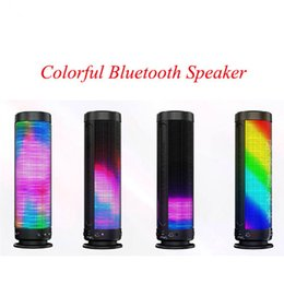 Wholesale GOLDFOX D Pulse Portable Wireless Bluetooth Speaker Colorful Degrees LED Light Mini Stereo U disk TF card Outdoor Speakers