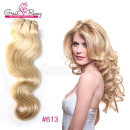 Blonde Human Hair Weave #613 Brazilian Body Wave Remy Hair Extensions 12-30inch Colored Bundles Brazilian Hair Free Shipping