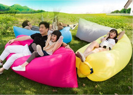 Wholesale New Lamzac laybag Fast Inflatable hangout Air Sofa sleep bag Camping Bed Sofa Lounger Only Need Ten Seconds kaisr DHL