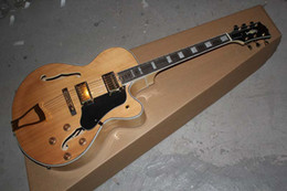 Hot Wholesale New Arrival G L-5 L5 Jazz guitar F -Semi Hollow Natural color Electric guitar in stock
