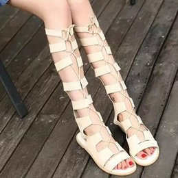 Sale Summer Women Sandals Roman hollow-out peep-toe high flat cool boots