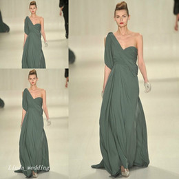 New Arrival Evening Dress Elie Saab One Shoulder Long Chiffon Special Occasion Dress Runway Dress Prom Party Gown