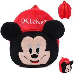 Wholesale Hot Sale Lovely soft Plush mickey school bag packing candy toy book kid Satchel for years mochila CHILDREN BACKPACK