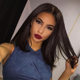 Glueless Straight Full Lace Wigs For Black Women Black Brown Front Lace Wig Brazilian Full Lace Wig With Baby Hair