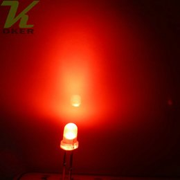 1000pcs 3mm Red diffused LED Light Lamp led Diodes 3mm Diffused Red Ultra Bright Round LED Light Free Shipping