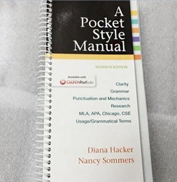 A Pocket Style Manual Book 7th Edition by Diana Hacker and Nancy Sommers Most running Book
