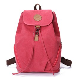 Wholesale Korea Style Fashion Backpacks for Men and Women Solid Preppy Style Soft Back Pack Unisex School Bags Big Capicity Canvas Bag