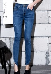 women world fashion jeans spring summer autumn winter washed long pants pencil pant Vintage washed hotsale S-5XL woman