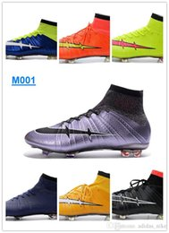 Wholesale New Mercurial Superfly FG CR7 Purple Black Mens Soccer Shoes Reddish Violet Mercurial Soccer Boots Original Outdoor Football Shoes