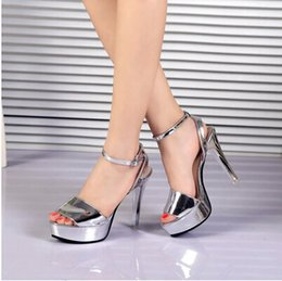 Korean female female high-heeled sandals with thin summer shoes new tide fashion sexy lady all-match word buckle summer
