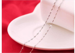 wholesales 30pcs hot sale fashion 925 silver necklace for women Water wave chain female Jewelry size 16 18 inch width 1.5mm free shipping
