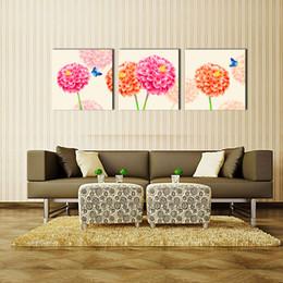 2016 paneles de grandes dimensiones 3 panel moderno moderno flor y pintura de lona de mariposa
