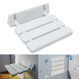 Wholesale Different Price Wall Mounted Foldable Stool Bathroom Shower Seat Folding Spa Bench Space Saving White Color