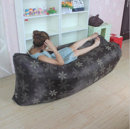 Wholesale air Filling and Nylon Fabric Hangout outdoor Inflatable Air Sleeping Bag Inflatable sofa chair lazy laybag air bed