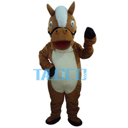Professional New Brown Horse Mascot Costume Adult Size Fancy Dress