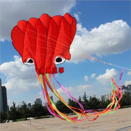 Wholesale Octopus m soft kites New arrival Best selling high quality outdoor toys Various color choice Easy to fly and control