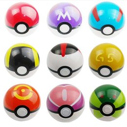 Wholesale Poke Ball Anime Toys Cartoon Pocket Monsters ABS Action Figures pikachu Ball Cosplay Pop up DHL Fedex Free